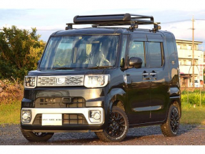 ダイハツ ウェイク X SA ターボ スマアシ リフトアップ 新品マッドタイヤ/14インチアルミ ルーフラック