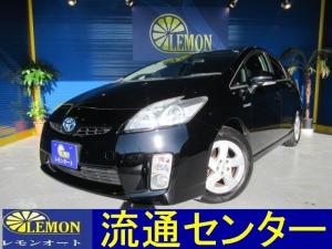 トヨタ プリウス S Bluetooth対応フルセグHDDナビ ETC スマートキー プッシュスタート 電動格納式ドアミラー  レザーシートカバー 車検2年