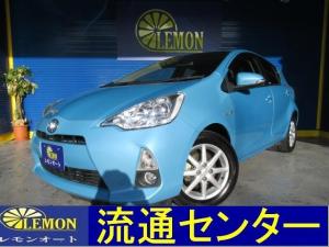 トヨタ アクア S Bluetooth対応フルセグナビ バックカメラ ETC スマートキー プッシュスタート ハイブリット車 電動格納式ドアミラー 取説付き