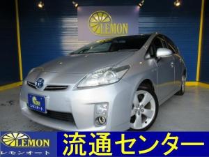 トヨタ プリウス L DVD再生機能付きフルセグナビ バックカメラ スマートキー ETC LEDヘッド ツーリング17インチアルミ 電動格納式ドアミラー 取説付き