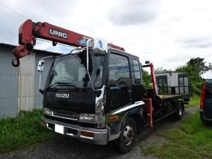 いすゞ フォワード  3段クレーン UNIC UR370 ラジコン付 積載車UNIC UC45ラジコン付