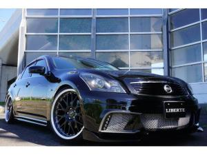 日産 スカイライン LBコンプ フルエアロ 車高調20AW 黒革調 4本マフラー
