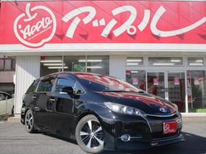 トヨタ ウィッシュ 1.8S サンルーフ 社外車高調 ウィンカーミラー ETC 純正16インチアルミ MTモード付 パドルシフト ブルートゥース対応 フォグランプ装備 スマートキー社外ナビ