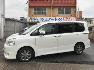 トヨタ ヴォクシー ZS 煌 黒革調シートカバー 社外SDナビ ETC 両側電動