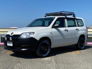 トヨタ プロボックス DXコンフォート カスタム リフトアップ マッドタイヤ ルーフラック マットブラック塗装 社外ナビ  バックカメラ ETC