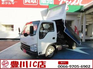 いすゞ エルフトラック 強化ダンプ 新明和工業製ダンプ 2.0tダンプ 5速MT ETC キーレス リアダブルタイヤ 電格ミラー 車両総重量4895kg