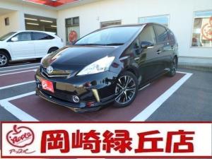 トヨタ プリウスアルファ S チューン ブラック 社外SDナビ ETC
