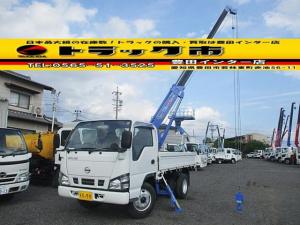 日産 アトラストラック 3段クレーン タダノ 平ボディ 積載2t 0.99t吊