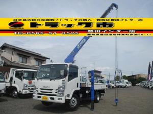 いすゞ エルフトラック セルフ4段クレーン ラジコン ハイジャッキ 積載3t