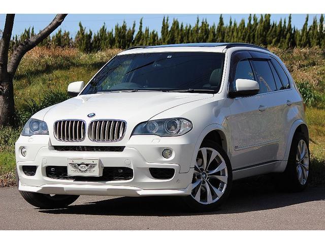 BMW X5 4.8i Mスポーツ E70 ガラスSR 黒革パワーシート