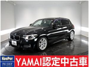 BMW 1シリーズ 116i Mスポーツ ワンオーナー車 社外ナビ Bカメラ ETC 社外HDD 純正17インチAW プッシュスタート アイドリングストップ オートライト&ワイパー 記録簿有