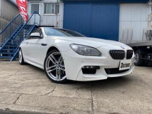 BMW 6シリーズ 640iクーペ Mスポーツ サンルーフ 純正メーカーオプションナビ 純正フルセグTV 黒革シート HIDヘッドライト バックカメラ アラウンドビューモニター フロントブラインドモニター クリアランスソナー