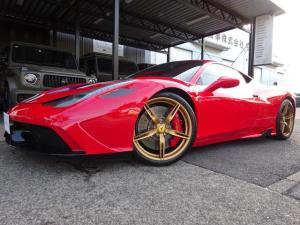 フェラーリ 458スペチアーレ ベースグレード 458スペチアーレ F1 DCT レーシングストライプ LEDカーボンステア レザーインテリア パークセンサー バックカメラ ETC カーボンファイバーインテリア ピレリタイヤ4本新品交換済み