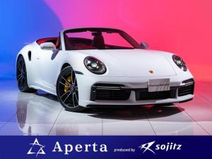 ポルシェ 911 911ターボS カブリオレ スポーツエグゾーストシステム ハイグロスブラックテールパイプ PASMシステムスポーツサスペンション パワーステアリングプラス シートクーラー PDLSplus付LEDマトリクスヘッドライトブラック