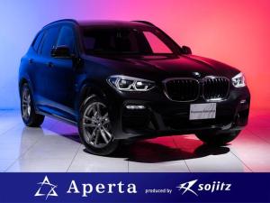 BMW X3 xDrive 20d Mスポーツ 陸送費無料 ドラレコプレゼント アダクティブLEDヘッドライト 19インチアルミホイール ヘッドアップディスプレイ アルミニウムパネル メモリ付きパワーシート ブルーステッチ 保証付
