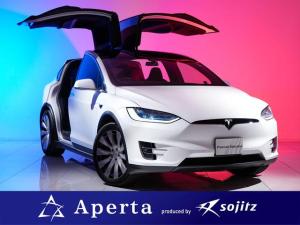 テスラ モデルX ロングレンジ 20インチアルミ 自運転支援機能 6人乗りインテリア ブラックレザーシート ナチュラルウッドデコール ガラスルーフ サイドカメラ ワンオーナー 安心保証付