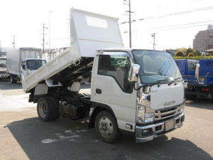 いすゞ エルフトラック 全低床2トン積ダンプ・メッキパーツ付・坂道発進補助装置