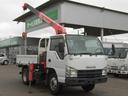 いすゞ/エルフトラック 3段クレーン・3トン積平ボディ・2.33t吊りフックイン