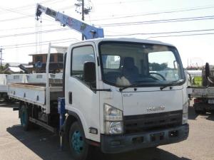 いすゞ エルフトラック ワイドロング3段クレーン2トン積3方開フックイン2.63t吊