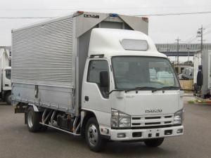 いすゞ エルフトラック 全低床ロング3トン積アルミウイングR観音扉・バックカメラ付