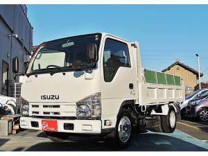 いすゞ エルフトラック 強化フルフラットローダンプ 極東開発 3.0t ETC コボレーン付