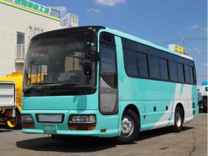 いすゞ  41人乗り観光バス 9mショート ハイデッカー サロン仕様 8列 記録簿 貫通トランク2室 フルエアサス