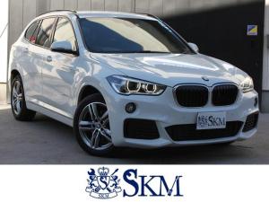 BMW X1 xDrive 18d Mスポーツ 1オーナー車 コンフォートアクセス インテリジェントセーフティ 電動バックドア ルームミラー型 ETC LEDヘッドライト ドライブレコーダー ルーフレール 純正ナビ バックモニター フォグライト
