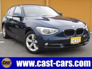 BMW 1シリーズ 116i スポーツ ターボ/禁煙/HDDナビ/ETC/デュアルAC/アイドリングSTOP/ABS/横滑防止/6エアB/プッシュST/キーレス/DVD再生/HID/純正16AW/イモビ/フォグ/ウインカーミラー