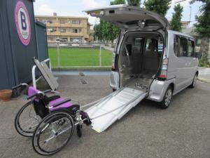ホンダ N-BOX+ G・Lパッケージ 車いす仕様車 スローパー リアシート付4人乗り ナビフルセグTV ETC
