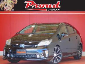 トヨタ プリウス S 1年保証 HDDナビ フルセグ フリップダウンモニター バックカメラ スマートキー プッシュスタート HID ETC 社外アルミ フォグ 電格ミラー タイミングチェーン CVT オートAC エアロ