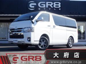 トヨタ ハイエースバン スーパーGL ダークプライムII 4WD/BIG-X大型ナビ/ETC/バックモニター/両側パワースライドドア/トヨタセーフティーセンス/ベッドキット/スマートキー&エンジンプッシュスタート/純正オプションアルミ/AC100V電源