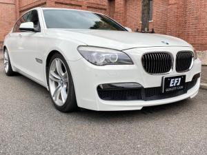 BMW 7シリーズ 740i Mスポーツパッケージ 左ハンドル ソフトクローズドア PDC 20インチAW サンルーフ 本革シート 全席シートヒーター パワートランク バックカメラ 純正HDDナビフルセグTV AUX USB Bluetooth