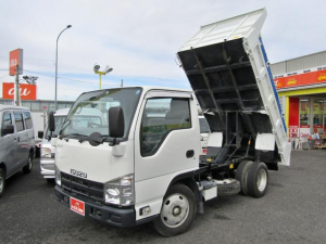 いすゞ エルフトラック フルフラットローダンプ 全低床3トン強化ダンプ コボレーン 坂道発進補助装置 排出ガス浄化装置 ディーゼルターボ 6MT