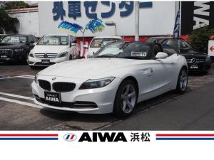 BMW Z4 sDrive23i ハイラインパッケージ 電動オープン 純正ナビ フルセグTV 黒革シート シートヒーター パワーシート パドルシフト 純正17インチAW オートエアコン 木目調パネル キーレス キセノン オートライト ETC