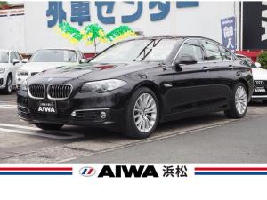 BMW 5シリーズ 523d ラグジュアリー 禁煙車 インテリジェントセーフティー 純正ナビ フルセグTV バックカメラ コーナーセンサー ベージュレザーシート シートヒーター パワーシート ACC ドライブレコーダー 純正18インチAW ETC
