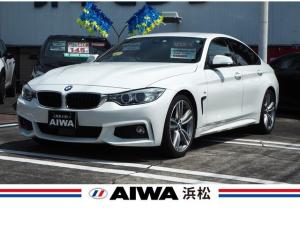 BMW 4シリーズ 420iグランクーペ Mスポーツ 禁煙車 インテリジェントセーフティ クルーズコントロール コーナーセンサー 車線逸脱警告 純正ナビ バックカメラ Bluetooth パワーバックドア パワーシート ETC 純正19インチアルミ