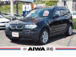 BMW X3 2.5i 4WD 社外ナビ フルセグTV オートエアコン 純正17インチAW キーレス キセノン ETC