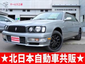 日産 セドリック グランツーリスモSV FOUR 4WD 純正ナビ・CDチェンジャー・パワーシート・ETC・寒冷地仕様・18インチ新品タイヤ・RB25DETエンジン