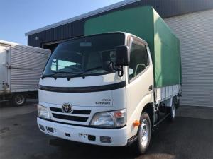 トヨタ ダイナトラック 1.35t積平ボデー 4WD 幌付 荷台塗装済
