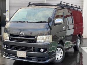 トヨタ ハイエースバン ロングスーパーGL Rヒーター Rエアコン ナビTV Bカメラ 本州仕入れ ルーフキャリア