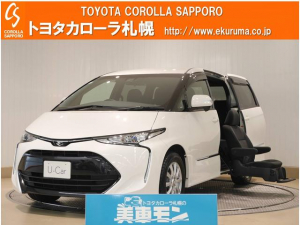 トヨタ エスティマ アエラス サイドリフトアップシート 4WD メモリーナビ付