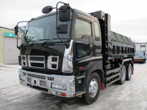 いすゞ ギガ ベースグレード 9.4トン土砂ダンプ380PSコボレーンエア式手動ピン油圧格納式リヤバンパー内寸5100/2200/510