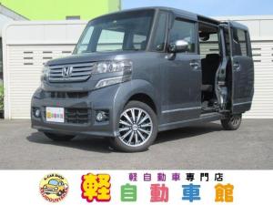 ホンダ N-BOXカスタム G・ターボパッケージ ナビTV ABS パワスラドア 4WD スマートキー