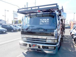 三菱ふそう ファイター キャリアカー 3台積 積載車 中型免許OK ウインチ付き