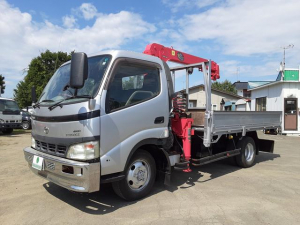 トヨタ ダイナトラック 3t 3段クレーン 4WD ワイドロング