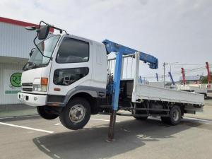 三菱ふそう ファイター  クレーン車ハイジャッキ 4段 ワイド 積載2.4t 荷台内寸L485W236H40