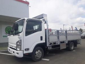 いすゞ エルフトラック  プロパン積載車 4WD 平ボディ ワイドロング Pゲート 積載3t 荷台内寸L435W208H73