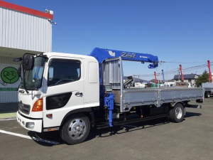 日野 レンジャー  4WD クレーン車 4段ラジコン 積載1.85t 荷台内寸L554W218H40