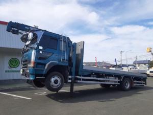 三菱ふそう ザ・グレート  セルフ クレーン車 4段ラジコン ハイジャッキ 積載7t 荷台内寸L700W245H18 16030CC