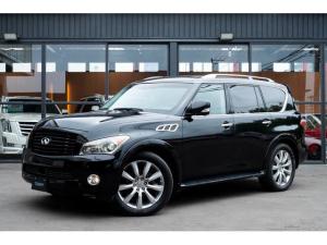インフィニティ QX56 4WD 社外追加ナビ/Bluetooth/全周囲カメラ/サンルーフ/黒革シート/シートヒーター前後